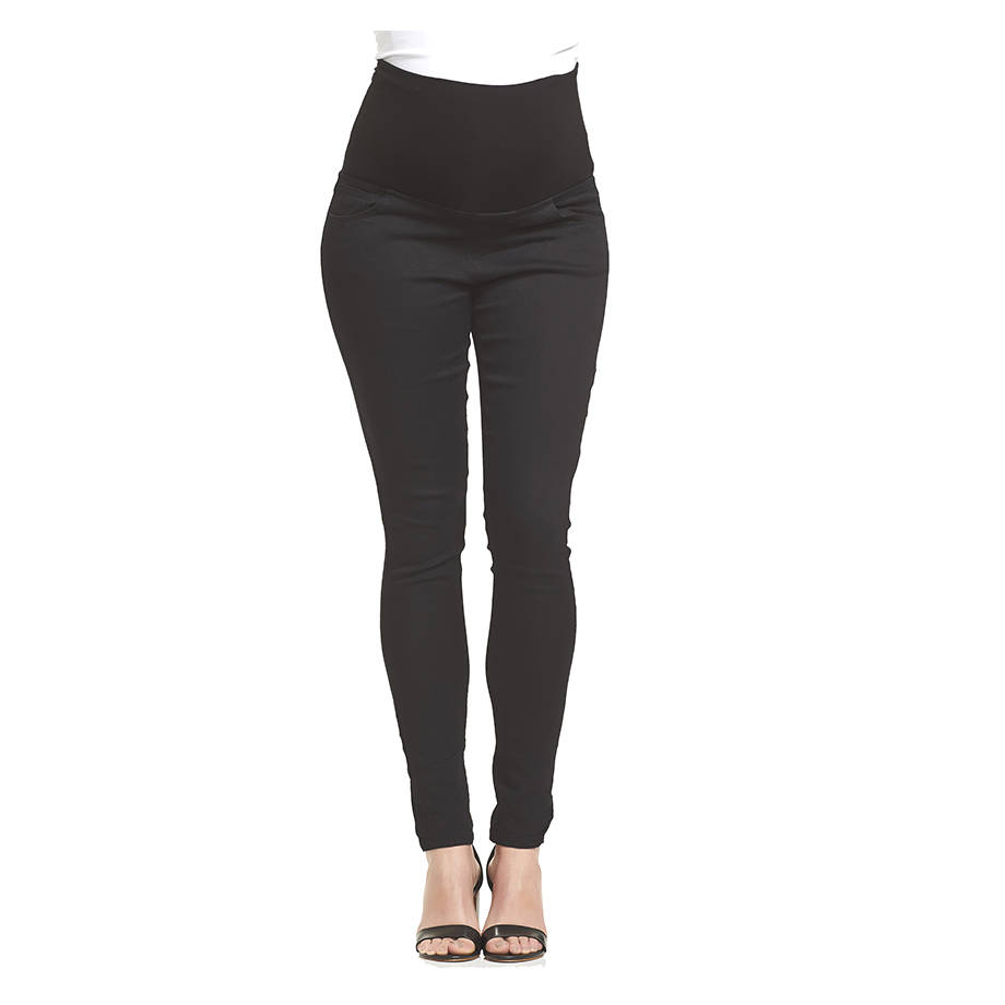 Mums & Bumps Soon Maternity Essential Over Belly Denim Black