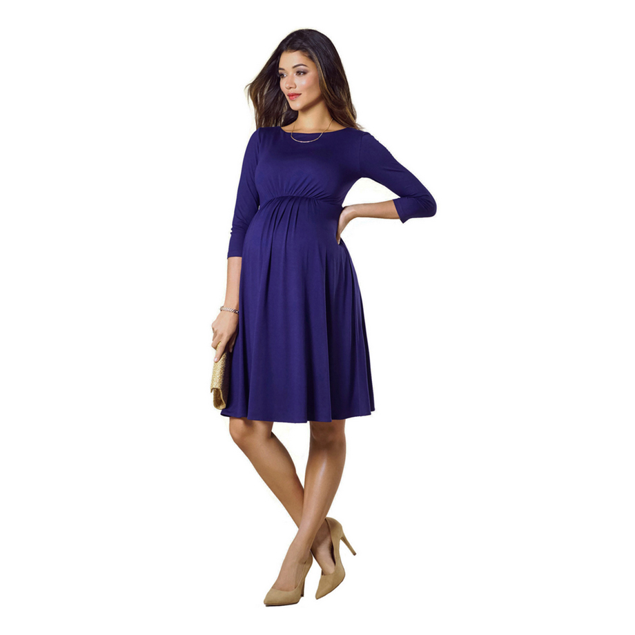 Mums & Bumps Tiffany Rose Cathy Maternity Dress Eclipse Blue