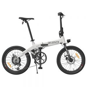HIMO Z20 Folding Electric Bicycle 20 Inch Tire 250W DC Motor Up To 80km Range  Removable Battery Shimano 6-speed Transmission Smart Display Dual Disc Brake CN Version - White