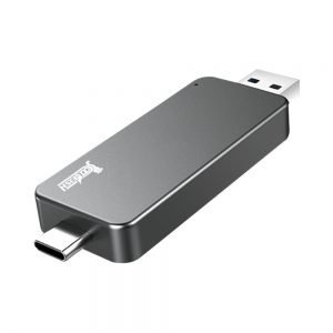 Coolfish GO NGFF 256GB SSD Multifunctional Dual-purpose External Solid State Drive Max Read Speed 480MB/S M.2 Interface - Dark Gray
