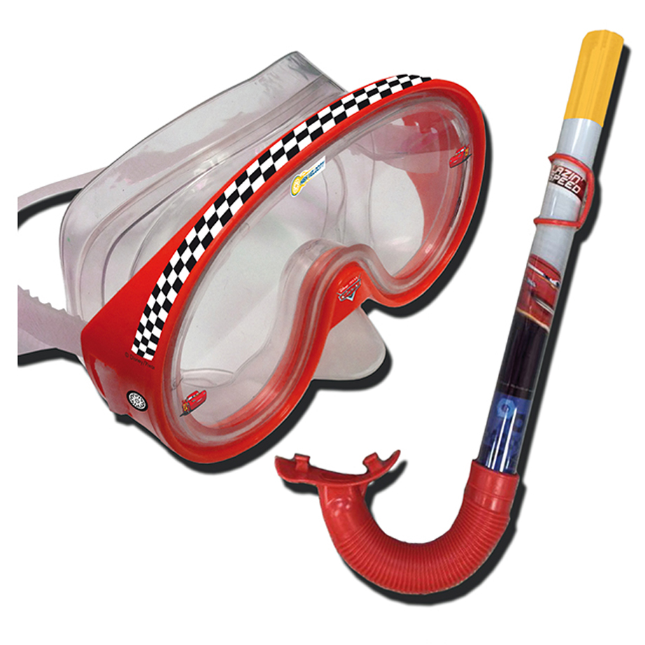 Disney Dive Set Cars Snorkeling Red