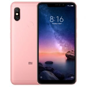 Xiaomi Redmi Note 6 Pro 6.26 Inch 4G LTE Smartphone Snapdragon 636 3GB 32GB 12.0MP + 5.0MP Dual Rear Cameras MIUI 9 Face ID FHD+ Screen Global Version - Pink
